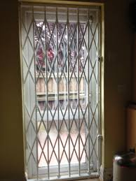 rsg1000 retractable security grills fitted internally to the door