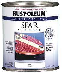 Exterior Door Varnish Rust Oleum Marine Coatings Clear Gloss Spar Varnish 1 Qt At
