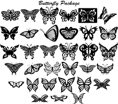 butterfly ornaments decor dxf files cut ready cnc designs