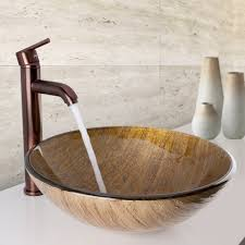 vigo amber sunset glass vessel bathroom sink amazon com