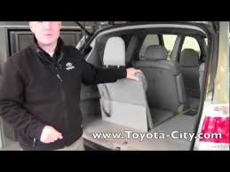 toyota rav4 third row seat 2012 toyota highlander third row seat operation how to by toyota