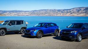 jeep renegade light blue rivals mazda cx 3 vs jeep renegade vs honda hr v roadshow