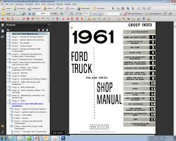 1961 63 ford truck shop manual ford motor company david e