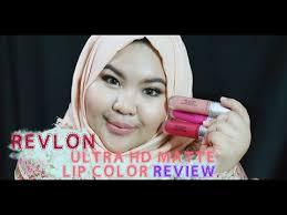 tutorial lipstik revlon lipstick review revlon ultra hd matte lip color swatches