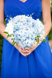 hydrangea wedding bouquet pale blue hydrangea bridesmaid bouquet