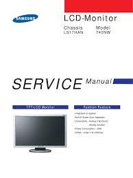 samsung tft lcd monitor 740nw chassis ls17han service manual