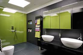 cuisine gris et vert anis salle de bain vert et gris