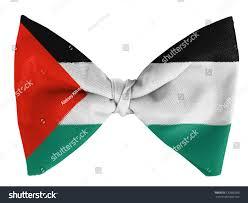 Palistinian Flag Palestina Palestinian Flag On Bow Tie Stock Photo 120860596