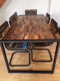 metal frame table and chairs metal frames wooden dfs dining table chairs and sideboard in