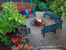 garden cozy backyard landscape design with dark wood bench and