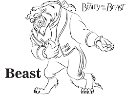philippe beauty and the beast free printable coloring page sheet
