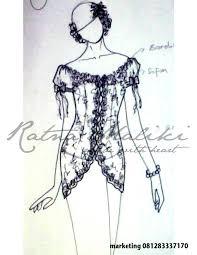 contoh desain sketsa kebaya fashion busana adat