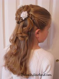 flowergirl hair twisted flower girl hairstyle in hairland
