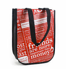 amazon com lululemon red with graphic print small reusable tote