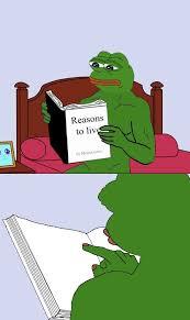 Guy Reading Book Meme - the strangest pepe the frog memes smosh