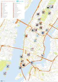 map ny city map nyc attractions major tourist maps mesmerizing of ny