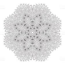 mandala coloring page monochrome oriental pattern vector