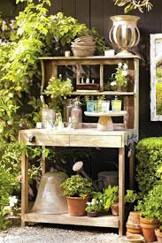 Outdoor Potting Bench With Sink The Best Potting Tables A Gardener U0027s Furniture Wsj