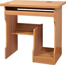 simple desktop computer desk home minimalist single person