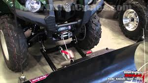 warn winch u0026 plow blade demonstration yamaha grizzly 550