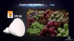 Par30 Led Light Bulb by Green Creative Par38 Par30 Par20 Led Light Bulbs High Cri Youtube