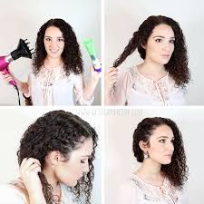 7 easy hairstyles for curly u2013 weekly change ups with garnier