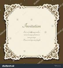 Floral Invitation Card Designs Vintage Gold Frame Floral Corner Patterns Stock Vector 583236256