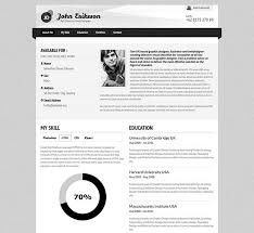 curriculum vitae minimalist design packaging area layout 50 professional html resume templates web graphic design