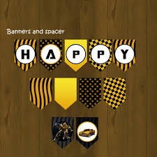 printable transformers birthday banner transformers bumblebee birthday printable banner splashbox