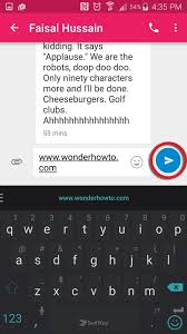 send from android how to keep texts from breaking into separate messages on