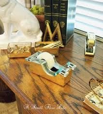 Orange Desk Accessories by A Stroll Thru Life Brass Desk Accessories