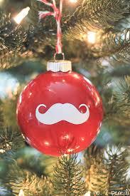 santa mustache ornament and amazing silhouette black friday
