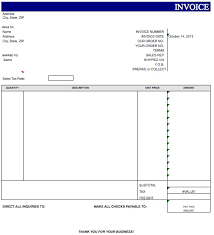 blank invoice template microsoft excel template sample vlashed