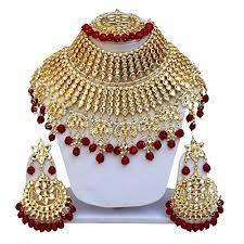 wedding necklace set red images Red necklace set kundan jewelry set heavy designer beautiful jpg