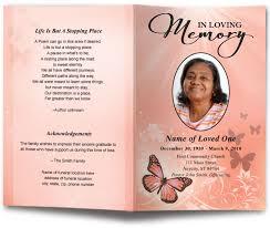 funeral program maker butterfly design funeral program template funeral programs