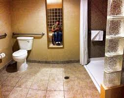 Shower Comfort The Toilet And Roll In Shower Picture Of Comfort Suites Univ Of