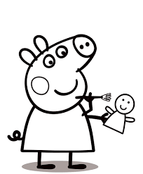 peppa pig coloring page excellent peppa pig coloring picture with