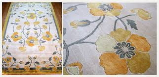 judit gueth rugs and wallpaper poppies yellow hand knotted rug