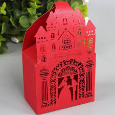 Church Favors by 50 Pcs Laser Cut Colorful Gift Boxes Wedding Favours