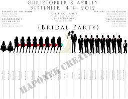 Wedding Party Program Template 28 Wedding Party Program Template Wedding Party Silhouette