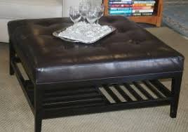 Black Microfiber Ottoman Black Ottoman Coffee Table Furniture Black Microfiber Ottoman