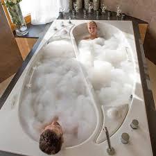 bathtub built for two the yin yang tub by trautwein