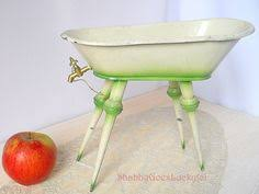 German Made Bathroom Faucets by Antique Doll Bathtub Made Of Lithographed Tin Standing On Legs