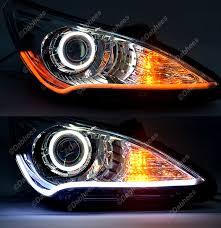 led strip lights headlights tube led white amber switchback headlight led drl daytime light