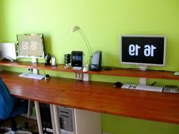 dual monitor gaming computer desk geeky stuff pinterest