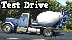 beamng drive 0 4 1 2 short 4x2 cement mixer truck test drive