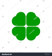 four leaf green clover icon st stock vector 602787614 shutterstock
