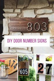 Diy Home Decor Signs by 26 Gorgeous Diy House Number Signs You Need To See Just Bright Ideas