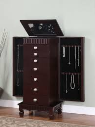 Black And Mirrored Bedroom Furniture Furniture Black Corner Mirror Jewelry Armoire With Nightstand And