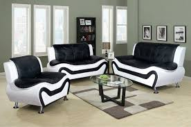 Black Leather Living Room Sets Black And White Modern Living Room Furniture